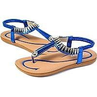 gracosy Estate Sandali da Donna Scarpe Estive Piatti Pantofole Infradito Stile Boemo con Punta a Strass in Spiaggia…