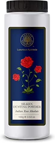 Forest EssentialsSilken Dusting Powder, Indian Rose Absolute, 100g