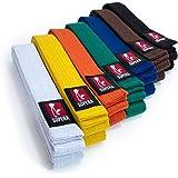 Supera Kampfsport Gürtel in verschieden Farben und Längen. Karate Gürtel aus extra dickem Stoff. Taekwondo Gürtel für Kinder und Erwachsene - Budogürtel