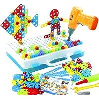 jerryvon Mosaique Enfant Puzzle 3D - Jeux de Construction Enfant Jouet Perceuse Electrique Loisirs Créatifs Jeux…
