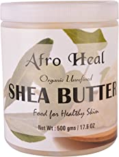 Afro Heal Organic Raw And Unrefined African Shea Butter 500 Grams Yellow