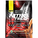 Muscletech Performance Series Nitrotech Whey Protein Peptides & Isolate (30g Protein, 3g Creatine, 6.8 BCAAs, 5g Glutamine & Precursor, 3.3g Leucine, Post-Workout) - 10lbs (4.54kg) (Milk Chocolate)
