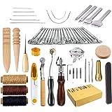 KEREITH Cuir à Coudre Outils 59 pièces à la Main à Coudre kit de réparation pour Craft DIY Kit
