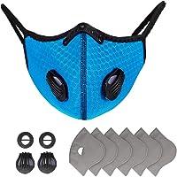 EEIEER Protège-dents pour l'extérieur, Airsoft Cyclisme Protection Buccale avec 7 Filtres et 4 Valves, étanche à la…
