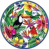 Unique Party 72675 – 23 cm tropiska luau-papperstallrikar, paket med 8