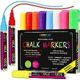Lote de 8 rotuladores de tiza líquida Colorful Art Professional, ideal para niños, para pizarras no porosas, cristales y vent