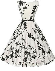 GRACE KARIN Boatneck Vintage Tea Dress Belt