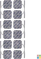 StimPads®, 40X40mm, 12-er SPAR-PACK leistungsstarke, langlebige TENS - EMS Elektroden mit 2mm Universal-Stecker-Anschluss