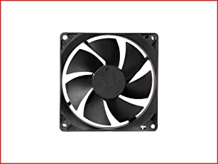 """MAA-KU DC Axial Case Cooling Fan. SIZE : 3.65"""" inches (9.2x9.2x2.5cm), (92x92x25mm), SUPPLY VOLTAGE : 12VDC, Material : Plastic P.B.T, Color : Black."""