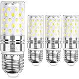 Sauglae LED Maíz Bombilla 12W, 100W Incandescente Bombilla Equivalentes, 6000K Blanco Frío, E27 Tornillo Edison, 1200lm, 4-Pa