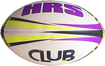 HRS Club Rugby Ball, Size-5, Purple Yellow