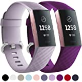 Faliogo 2 Pack Replacement Strap Compatible with Fitbit Charge 3 Strap/Fitbit Charge 4 Strap, Soft Sports Watch Strap…
