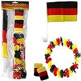 Fussball Party Fan-Artikel Deutschland schwarz-rot-gelb