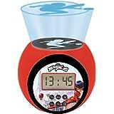 LEXIBOOK- Reloj Despertador con proyector Miraculous con función de repetición y Alarma, luz Nocturna con Temporizador, Panta
