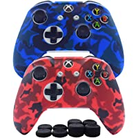 Hikfly Silicone Controller Cover Skin Protector Case Faceplates Kits for Xbox One Controller Video Games(2x Cover with 8…