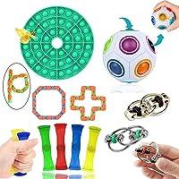 4 Gobbles Sticky Balls 18er Anti Stress Spielzeug Set Fidget Toy Kinder Erwachsene 6 Figet String+1*Ultimate Figdet Cube+4 Kawaii Katze Squeeze Spielzeug 1*Push Pop Pop Bubble+2 Bohnen
