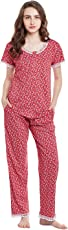 Claura Cotton Printed Lower and Top (Night Suit Set )