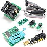 GGOOD Programador USB BIOS EEPROM CH341A + Clip SOIC8 + 1.8V 8-Pin SOIC Adaptador + Adaptador, Componentes