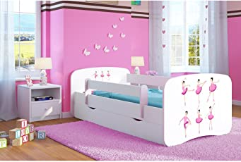 Kocot Kids Kinderbett Jugendbett 70x140 80x160 80x180 Weiß Mit  Rausfallschutz Matratze Schubalde Und Lattenrost Kinderbetten Für