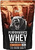 nu3 - Whey Protéines Performance / 1kg / Chocolat / Proteine destinée à la prise de masse musculaire / Excellente solubilité et délicieuse saveur chocolat / Haute teneur en proteines