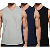 COOFANDY Men's 3 Pack Workout Vest V Neck Muscle Shirt Gym Bodybuilding Sleeveless T Shirts