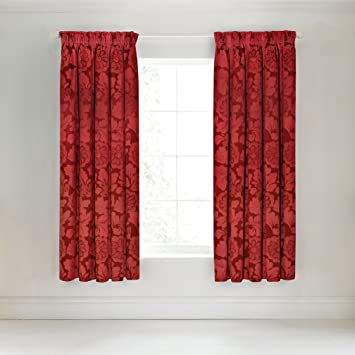 Red Curtains amazon red curtains : Broomhill Elora Lined Curtains, Red, 66X72: Amazon.co.uk: Kitchen ...