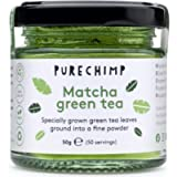 Matcha Green Tea Powder (Super Tea) 50g by PureChimp   Ceremonial Grade from Japan   Pesticide-Free   Recyclable Glass…