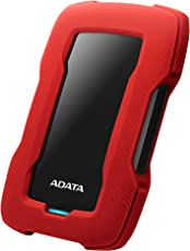 A-DATA HD330 2TB USB 3.1 Durable External Hard Drive (Red)