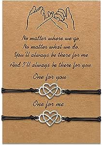 Braccialetti per figlie per madre Set di braccialetti in corda coordinata Regalo da mamma a figlia Relazione Gioielli fatti a mano per le donne Ragazze