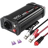BYGD 600W Inverter Potenza da Auto 12V a 230V con 2 Porte Smart USB 1 Prese AC, Convertitore Potenza per Auto/Camper…