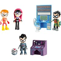 "Teen Titans Go 2.75"" Figures Bundle Set - 3 Items: Sarfire with Speedy, Red X with Accessorty and Ro"