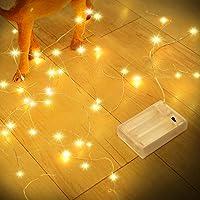 Led Lichterkette Batterie Strombetrieben, Romwish 12M 120LED Innen Kupferdraht Lichterketten für Party, Garten…