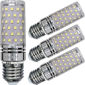 Sagel E27 LED Maíz Bombillas, 15W LED de Bombillas 120W Equivalente, 1500lm, Blanco Frío 6000K Candelabro Bombillas LED Lámpara, Base E27, No Regulable ...