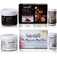 NutriGlow Bleach Combo Pack Of 2 Gold Kesar, Skin Rejuvination Bleach Cream