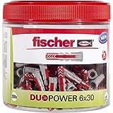 Fischer DUOPOWER 6 x 30, handige ronde doos met 200 universele pluggen, krachtige 2-componenten pluggen, kunststof pluggen vo