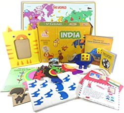 Globe Trotters Box India Activity Box from Globetrotters, 4-6 Years (Multicolour)