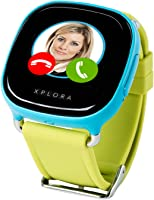 XPLORA - Telefonuhr für Kinder - Telefonieren, Mitteilungen senden und empfangen, Ruhezeiten, Sicherheitszonen, SOS, GPS-Ortung, Kalender (BLAU SIM-Free)