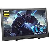 "Portátil Monitor Gaming de 11.6"",Kenowa LED Display (1920x1080 Full HD, IPS, Flicker-Free,Dual HDMI) Compatible para Raspberr"