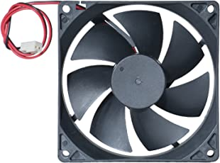 """MAA-KU DC Axial Case Cooling Fan. Size : 3.62"""" inches (9.2x9.2x2.5cm), (92x92x25mm), Supply Voltage : 24VDC, Material : Plastic P.B.T, Color : Black."""