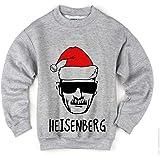 Santa Christmas Heisenberg Breaking Bad Maglione Felpa Unisex Grigio Sweater