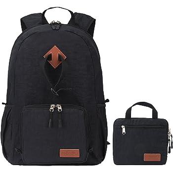 15L 30L 35L mochila plegable ultra ligero para excursiones al aire libre, camping y viajes (Black, 30L)