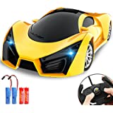 KULARIWORLD Remote Control Car, Drift RC Cars Toys for Kids,1/16 Scale 10KMH High Speed Super Vehicle with Led Headlight,Yell