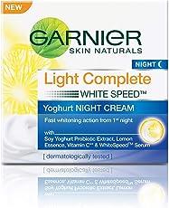 Garnier Skin Naturals, Light Complete Night Cream, 40gm