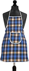 Yellow Weaves Waterproof Cotton Kitchen Apron with Front Pocket - Multi Color