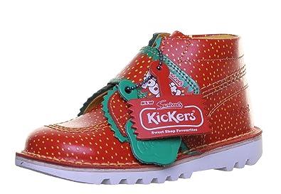 newest f9683 41618 Kickers Kick Fruity Kleinkinder Leder matt Schuhe, rot - Red ...