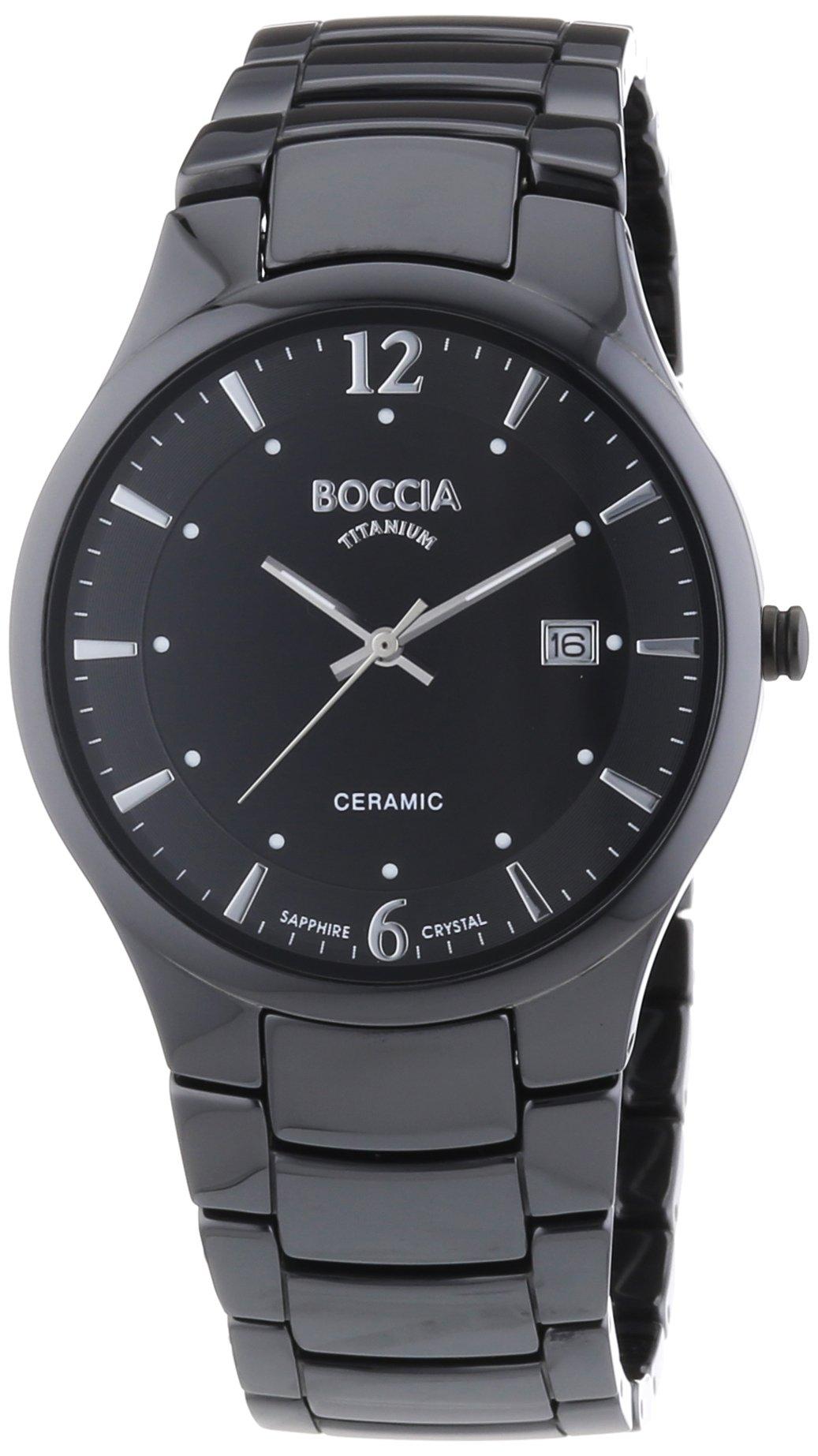 Boccia Herrenuhr Analog Quarz mit Keramikarmband – 3572-02