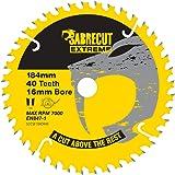 1 x SCCSF184CR40 SabreCut 184 mm 40T x 16 mm borr cirkulärt sågblad kompatibelt med Dewalt Makita Milwaukee Ryobi och många a