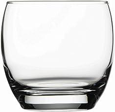 Pasabahce Barrel Whisky Glass Set, 340ml, Set of 6,Transparent