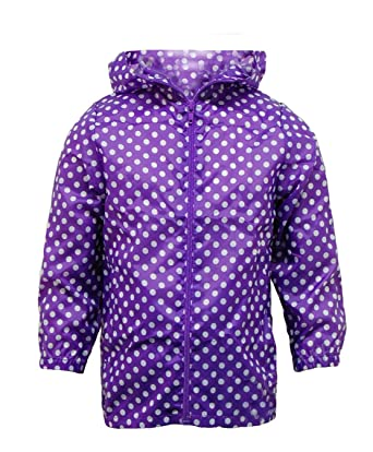 Girls Cagoule Kagool Lightweight Showerproof Rain Jacket In A Bag ...