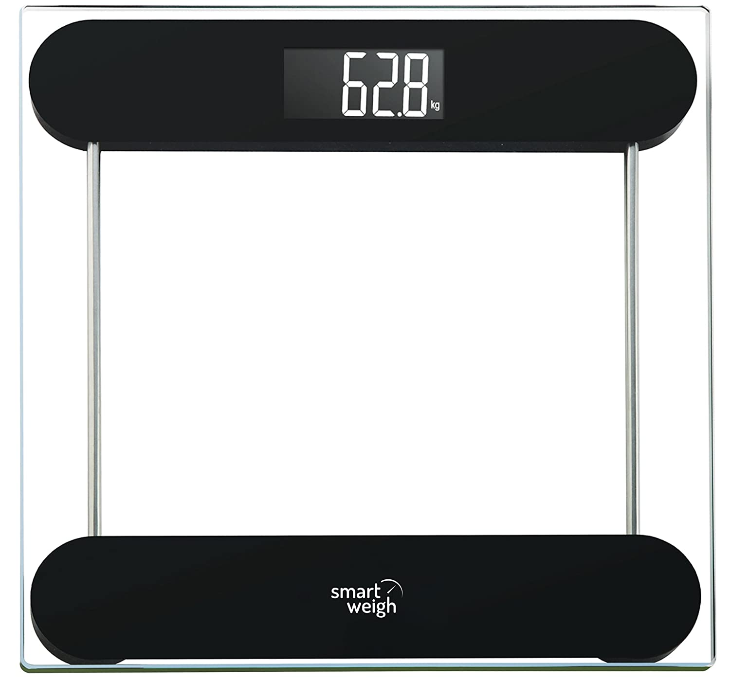 Bathroom scales best rated - Smart Weigh Black Precision Digital Vanity Bathroom Scale Amazon Co Uk Health Personal Care